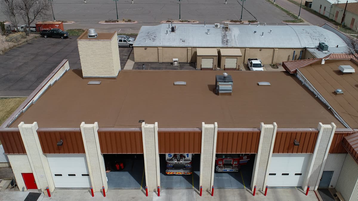 Mod Bit commercial roofing on Brighton Fire Department