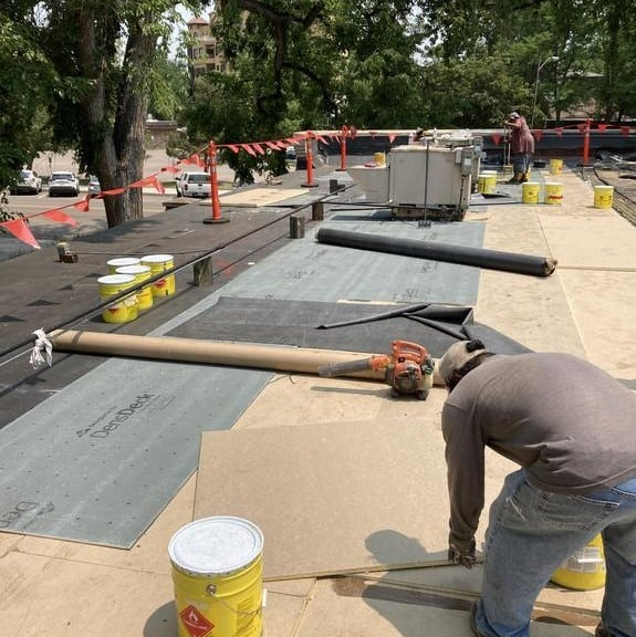 Fort Collins Chamber of Commerce roof in progress