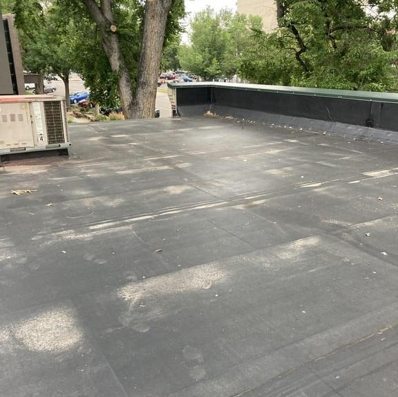 Fort Collins Chamber of Commerce completed flat roof